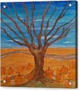 The Pumpkin Tree Acrylic Print by Dawn Vagts