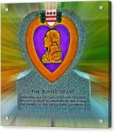the Purple Heart Acrylic Print