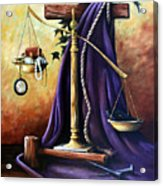 The Purple Robe Acrylic Print