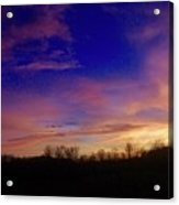 The Purple's Sunset Acrylic Print
