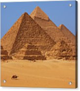 The Pyramids In Egypt Acrylic Print