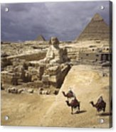 The Pyramids Of Giza And The Great Acrylic Print by B. Anthony Stewart