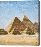 The Pyramids Of Giza Acrylic Print