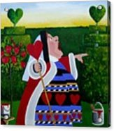 The Queen Of Hearts Acrylic Print