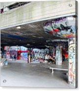 The Queen's Skatepark Acrylic Print