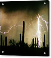 The Quiet Southwest Desert Lightning Storm Acrylic Print