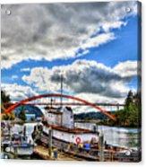 The Rainbow Bridge - Laconner Washington Acrylic Print