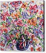 The Rainbow Flowers Acrylic Print
