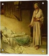 The Raising Of Jairus's Daughter Acrylic Print by George Percy Jacomb-Hood