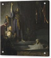 The Raising Of Lazarus Acrylic Print