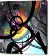 The Randomness Of It All Abstract Acrylic Print