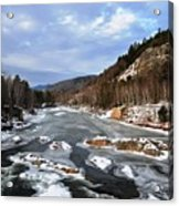 The Rapids In Winter Acrylic Print