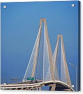 The Ravanel Bridge In Charleston Acrylic Print