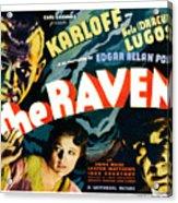 The Raven, From Left Boris Karloff Acrylic Print by Everett