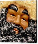 The Real Black Santa Acrylic Print