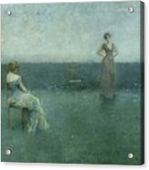 The Recitation Acrylic Print by Thomas Wilmer Dewing