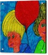 The Red Balloon  Acrylic Print