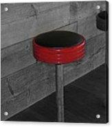 The Red Bar Stool Acrylic Print
