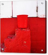 The Red Bucket Acrylic Print