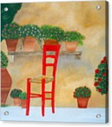 The Red Chair, Tuscany Acrylic Print
