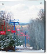 The Red Chairlift Acrylic Print