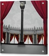 The Red Curtain Acrylic Print