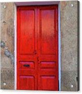 The Red Door. Acrylic Print