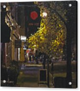 The Red Dot At Night Acrylic Print