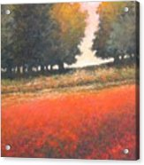 The Red Field #2 Acrylic Print