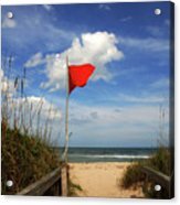 The Red Flag Acrylic Print