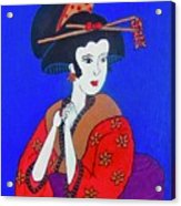 The Red Geisha Acrylic Print