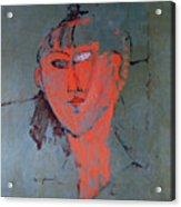The Red Head Acrylic Print by Amedeo Modigliani