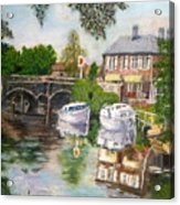 The Red Lion Inn By The Riverbank Acrylic Print