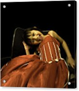 The Red Party Dress Acrylic Print
