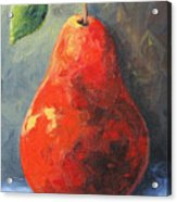 The Red Pear II  Acrylic Print