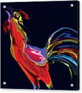 The Red Rooster Acrylic Print