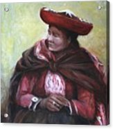 The Red Shawl  Acrylic Print