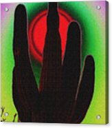 The Red Sun Acrylic Print