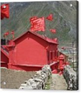 The Red Temple Acrylic Print