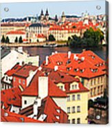 The Red Tile Roofs Of Prague Acrylic Print