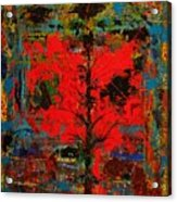 The Red Tree -or- Paint Acrylic Print