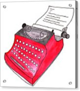 The Red Typewriter Acrylic Print