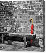 The Red Umbrella 2 Acrylic Print