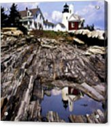 The Reflection At Pemaquid Acrylic Print