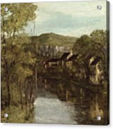 The Reflection Of Ornans Acrylic Print by Gustave Courbet
