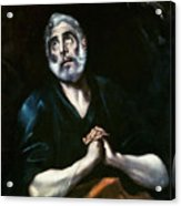 The Repentant Peter El Greco Acrylic Print