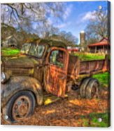 The Resting Place Boswell Farm 1947 Dodge Dump Truck Acrylic Print