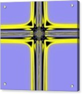 The Resurrection Cross Fractal 62 Acrylic Print
