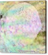 The Resurrection Horizon Event-no Rock Could Hold Him In Garden Tomb Vision Jerusalem 2008 Acrylic Print