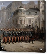 The Return Of The Troops To Paris From The Crimea Acrylic Print by Emmanuel Masse